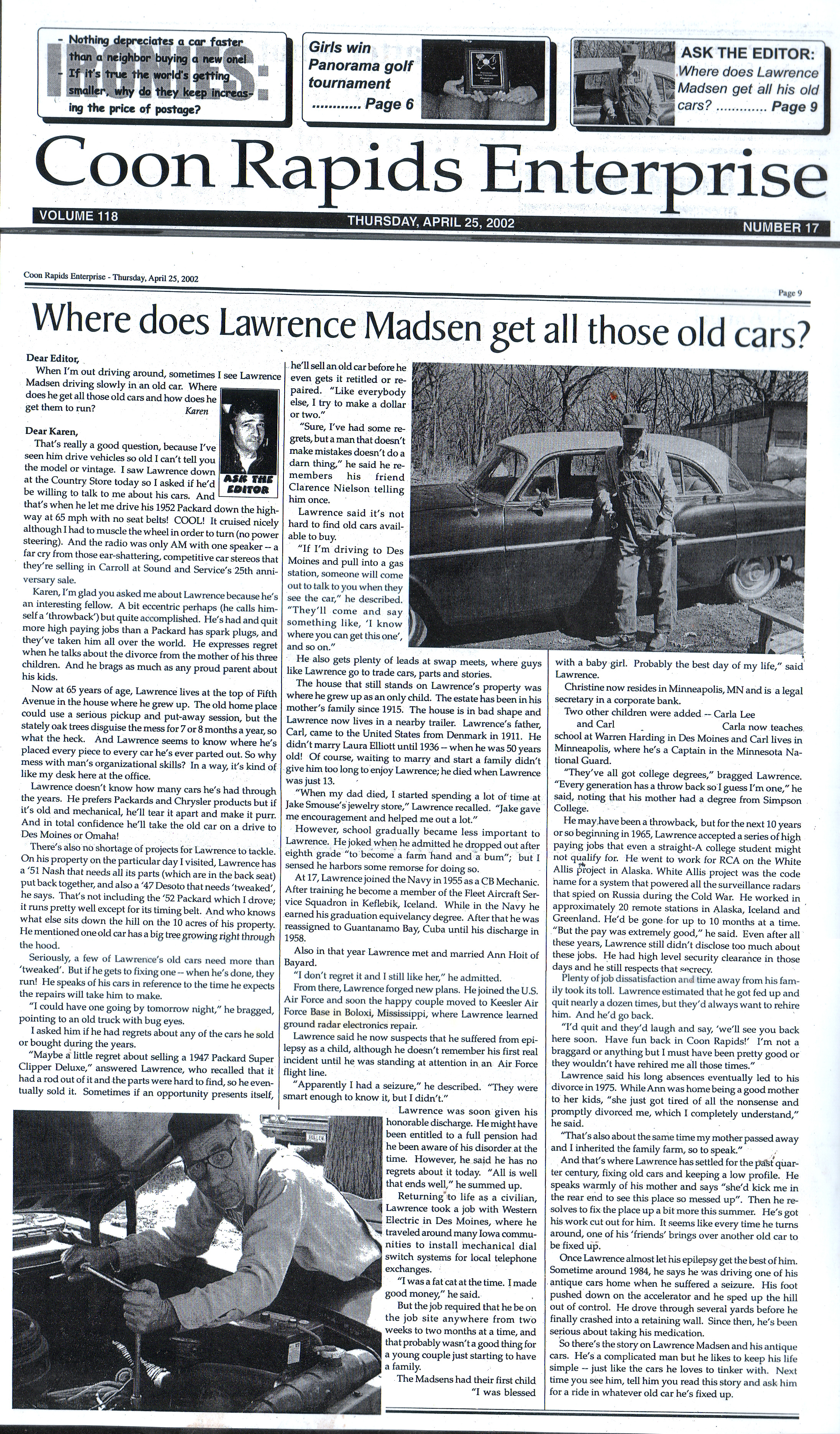 lawrence-madsen-article-coon-rapids-enterprise_2002_04-25