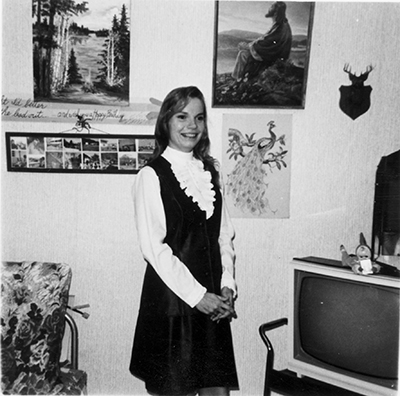 Ann Hoit Madsen in Bayard, Iowa 1968