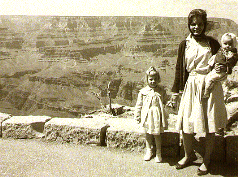 Ann Hoit Madsen with Carla and Christine at Grand Canyon