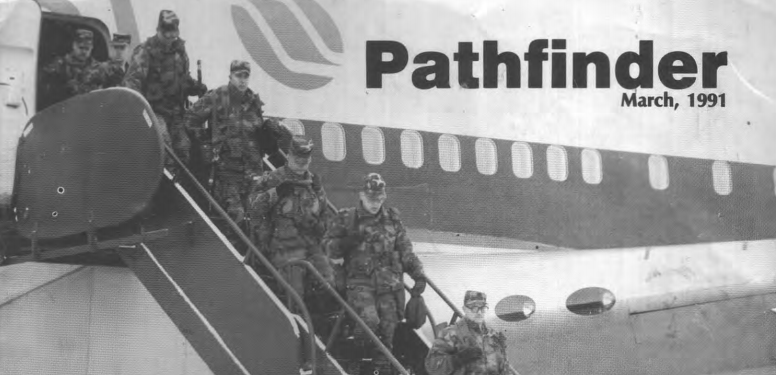 224 Engineer Battalion arriving in Germany 1991